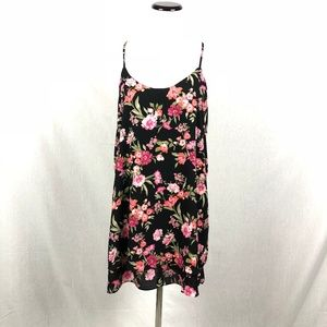 Forever 21 floral print strappy racerback tank